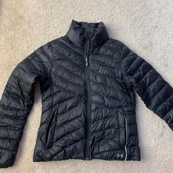 Black Under Armor Puffer Jacket